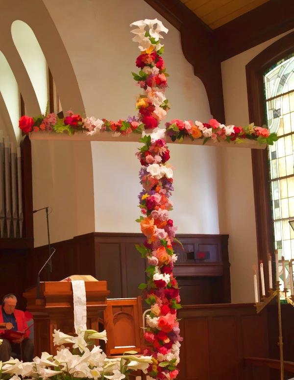 Easter Flower Cross 2014 (painted)