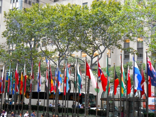 Flags in New York