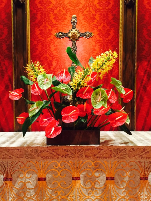 Altar at First United Methodist Church, Santa Barbara, CA Adorned by Julie Hayward