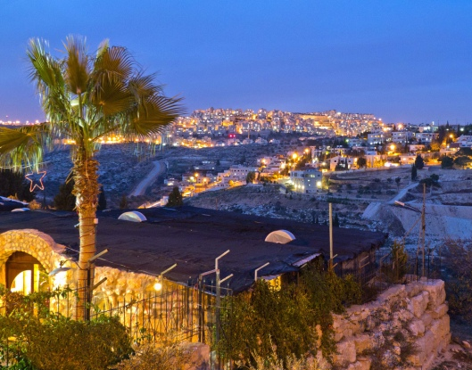 """Bethlehem at night,"" Flickr photo by Nancie Sill taken on January 17, 2011. Used by permission."